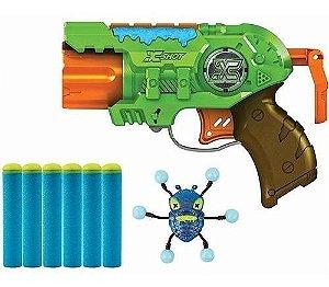 Lançador Dardo Bug Attack Predator Pistola 3 Tiros Candide