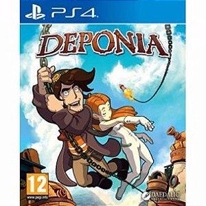 Jogo Mídia Física Deponia Original Nordic Playstation Ps4