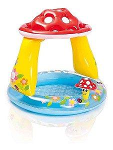 Piscina Inflável Cobertura Cogumelo Bebes Infantil Intex 45l