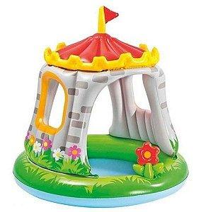 Piscina Inflável Infantil Com Cobertura Castelo  Intex