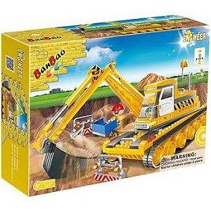 Brinquedo Blocos De Montar Banbao Obras Escavadeira 8519