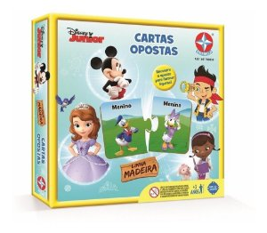 Novo Quebra-cabeça Cartas Opostas Disney Junior Da Estrela