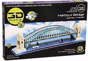 Quebra Cabeça 3d Puzzle Dtc - Harbour Bridge - 43 Peças