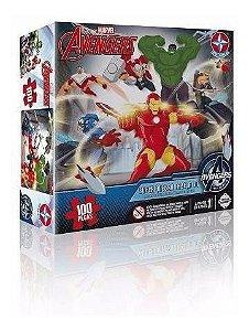 Super Quebra Cabeça Marvel Vingadores 3d 100 Peças Estrela