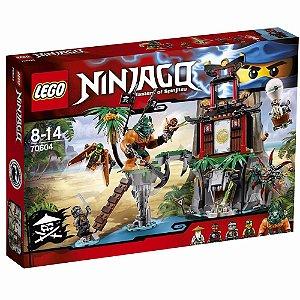 Brinquedo Blocos Montar Lego Ninjago Ilha Viúva Tigre 70604