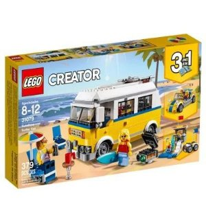 Brinquedo Blocos Montar Lego Sunshine Van De Surfista 31079