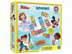 Jogo De Tabuleiro Disney Junior Dominó Madeira Da  Estrela