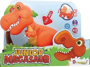Brinquedo Fun Junior Megasaur Dino Comilao Luz e Sons 8144 3
