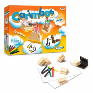 Brinquedo Educativos Carimbo Aves 50876 Xalingo