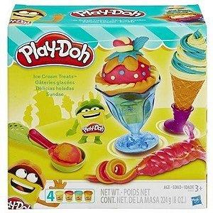Brinquedo Play Doh Delicias Geladas Sundae Hasbro B1857