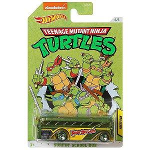 Hot Wheels As Tartarugas Ninjas Van Surfin School Bus Gdg83
