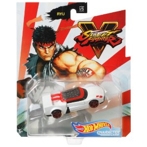 Hot Wheels Veiculo Street Fighter Carro Ryu da Mattel Gjj23