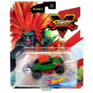 Hot Wheels Veiculo Street Fighter Carro Blanka Mattel Gjj23