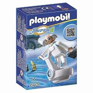 Nova Figura Playmobil Da Série Super 4 Doutor X 6690