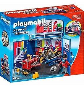 Brinquedo Playmobil Minha Oficina De Motocicleta 6157