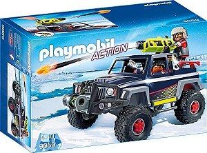Brinquedo Playmobil Pirata Do Gelo Com Jipe 9059