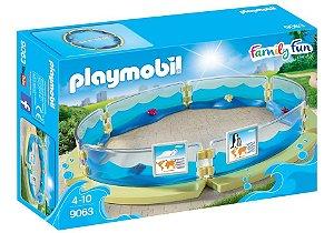 Brinquedo Playmobil Cercado Para Aquário Family Fun 9063