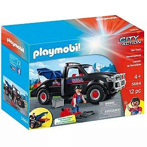 Brinquedo Playmobil City Action Caminhão Guincho Sunny 5664