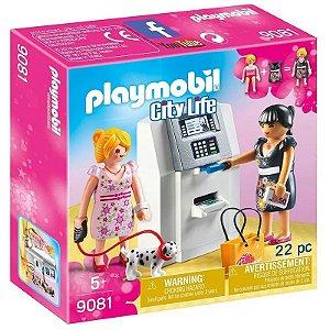 Brinquedo Infantil Playmobil City Life Caixa Eletrônico 9081