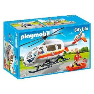 Brinquedo Playmobil Helicóptero De Resgate Médico 6686