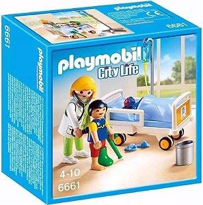 Brinquedo Playmobil 6661 City Life Pediatra Com Criança