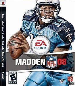 Jogo Novo Ea Sports Madden Nfl 08 Para Playstation 3 Ps3