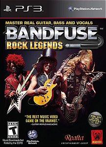 Jogo Musica Bandfuse Rock Legends Ps3 Playstation Sem O Cabo