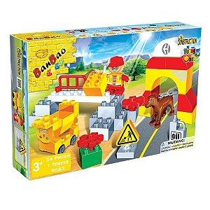 Brinquedo Blocos De Montar Banbao Canteiro De Obras 9663