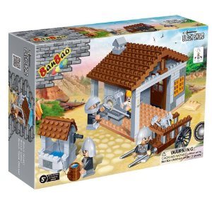 Novo Brinquedo Blocos De Montar Banbao Armazém Medieval 8266