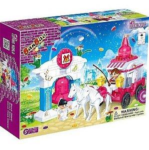 Blocos De Montar Brinquedo Mundo Encantado Carruagem 6107