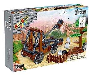 Brinquedo Blocos De Montar Banbao Medieval Catapulta 8269