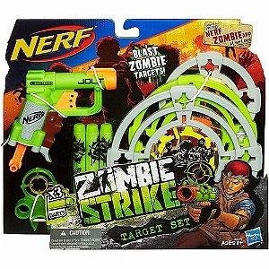Novo Lançador Dardo Nerf Zombie Com Alvos A6636 Hasbro