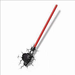Luminária Espada Star Wars Mão Do Darth Vader Com Sabre Luz