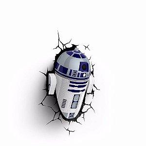 Luminária Robo Star Wars R2-d2 Decoração Led 3d Light Fx