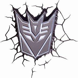 Nova Luminária Transformers Escudo Decepticon 3d Light Fx
