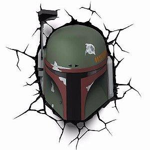 Luminária Caçador Star Wars Boba Fett 3d Decoração Light Led