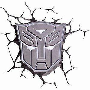 Nova Luminária Transformers Escudo Autobots 3d Light Fx