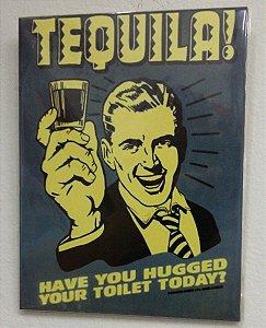 Quadro Placa Madeira Frases De Bar Anos 50 60 70 - Tequila
