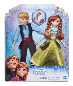 Brinquedo Kit Com Boneca Anna E Kristoff Frozen Disney B5168