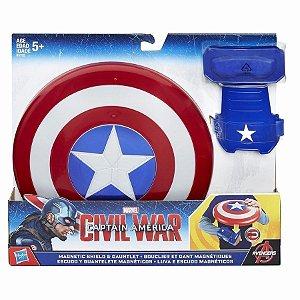 Capitão America Guerra Civil Luva E Escudo Magnetico B5782