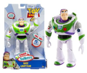 Boneco Toy Story 4 True Talkers Buzz Lightyear Mattel Gfl88