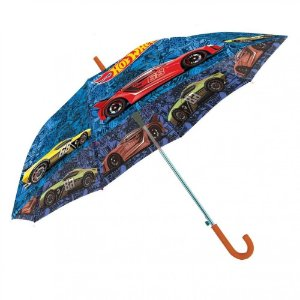 Sombrinha Guarda Chuva Infantil Hot Wheels 48cm Bgla58