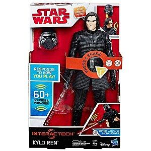 Figura Interativa 30 Cm Disney Star Wars Kylo Ren C1435