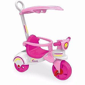 Brinquedo Novo Triciclo Infantil Multi Care Girl 3x1 Xalingo