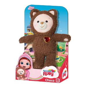 Brinquedo Urso Pelucia Choco Original Rainbow Ruby