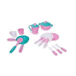 Brinquedo Kit De Cozinha Infantil 13 Peças Calesita 335