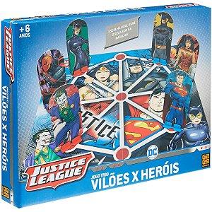 Jogo de Tabuleiro DC Comics Trio Viloes vs Herois Grow 03618