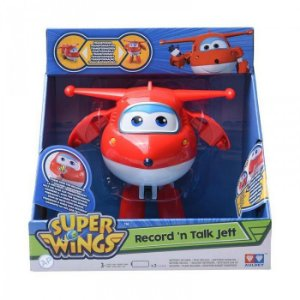 Brinquedo Avião Super Wings Jett Grava As Fala Auldey