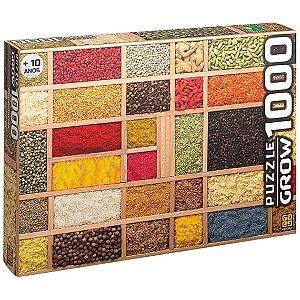 Quebra Cabeça Puzzle Especiarias com 1000 Peças Grow 03735