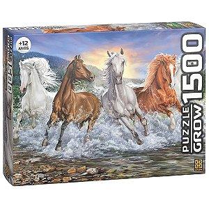 Quebra Cabeça Puzzle Cavalos Selvagens 1500 Peças Grow 03744